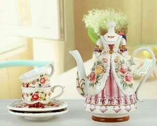 Victorian Dress Coffee Set