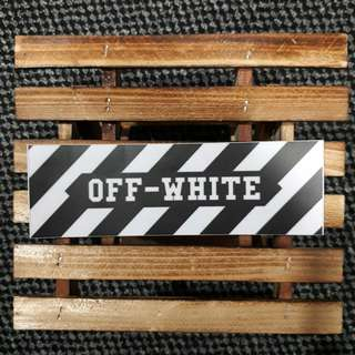OFF-WHITE c/o Virgil Abloh Logo Sticker