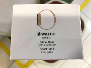 Apple Watch s3 38mm 金色 全新原封