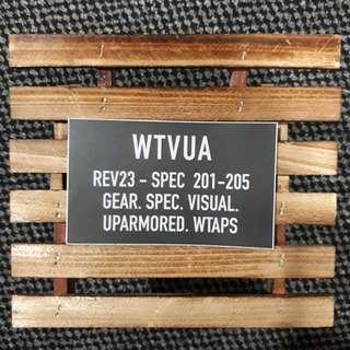 WTAPS - WTVUA 02 Vinyl Logo Sticker