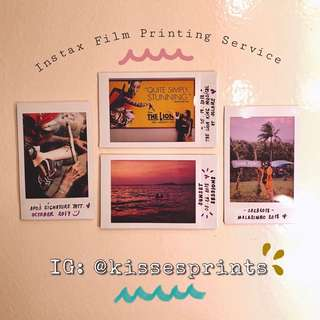 Instax Film Printing Service