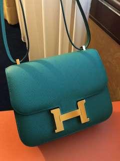Hermes mini Constance 金扣 epsom