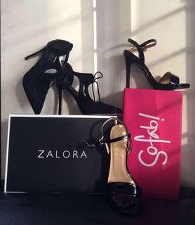 TAKE ALL! ✨ Zalora Lace-Up Heels & So Fab! Heels - Size 5 (Brandnew)