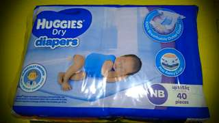 Huggies Dry Diaper Newborn 40's