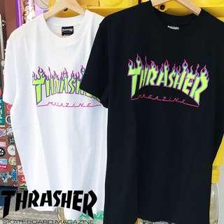 🚚 THRASHER 🔥🔥🔥 🌞夏季新款🌞夜光火焰短踢