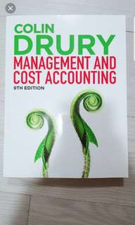Management and Cost Accounting 9th Edition by Colin Drury