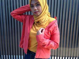 Neo palm spring orange jacket