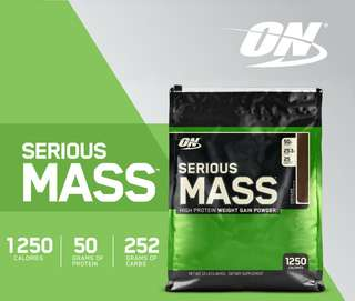 ON Serious Mass 12lbs Weight Gainer