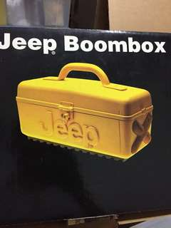 Jeep boombox cd cassette and radio player