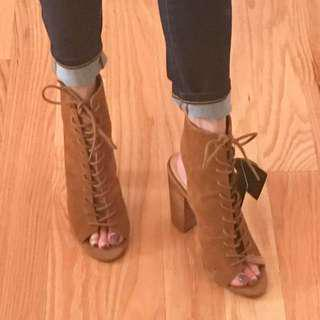 F21 Lace Up Booties