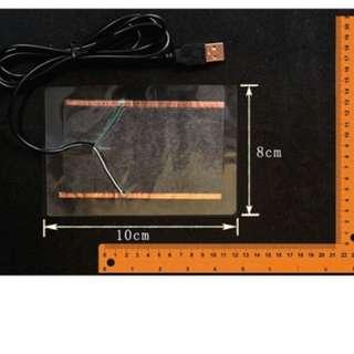 冬天必備 USB 5V 透明款發熱片加熱片保暖片電熱片 小寵保暖用品 倉鼠保暖 居家生活保暖