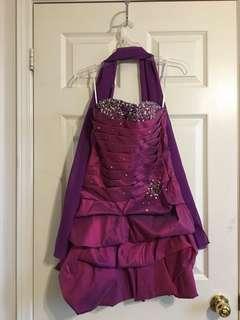 Magenta sequin grad dress semi-formal birthday dress