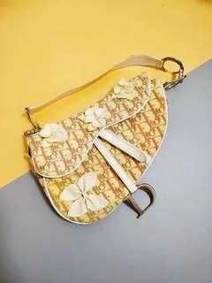 Vintage Dior Pink Floral Saddle Bag