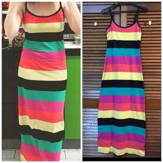 Colourful maxi dress