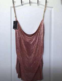 Rose gold chain mail dress
