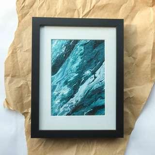 Acrylic Fluid Painting With Ribba Frame