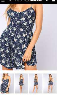 stephie floral dress fashion nova small