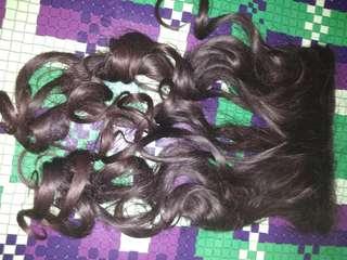 Hairclip curly darkbrown