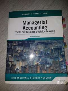 Managerial Accounting. Tools for Business Decision Making. 7th Edition International Student Version