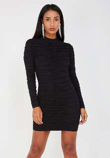 Maniere De Voir Ruched Mesh Dress