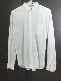 Cotton On White Smart Casual Shirt Long Sleeves Small
