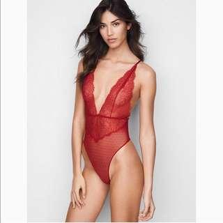 Victoria's Secret Very Sexy Chantilly Lace Plunge Teddy/Bodysuit