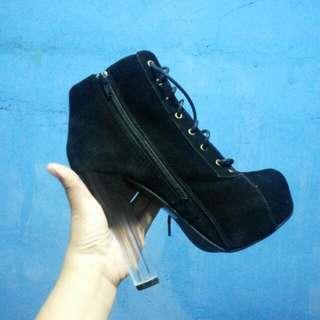 Suade Black Boots