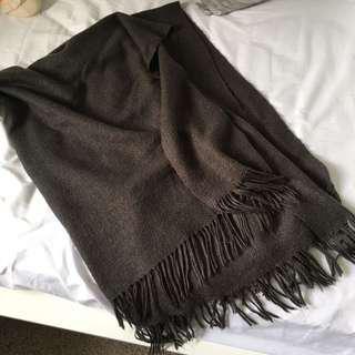 West Elm Grey Throw Blanket