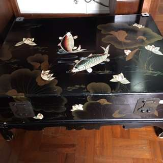 Lotus with fish lacquer box