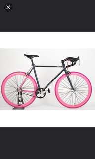 MAXBY fixies with brakes (Limited stock) (Pink+Grey)