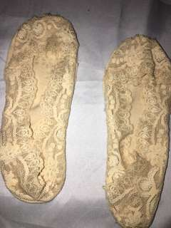 Lace foot socks