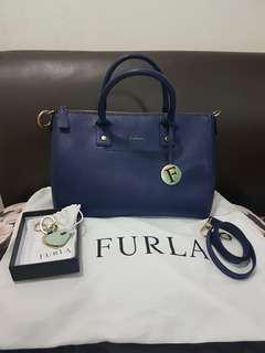 FURLA linda shoulder tote bag with sling strap