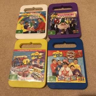 Wiggles DVDs For Kids - Set Of 4