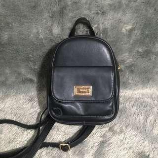 Ptr Project Black Backpack Ransel Mini Hitam