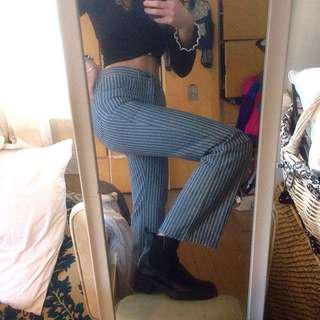 70s striped flared jeans 🦋