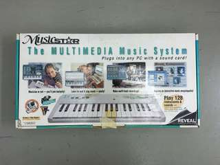 Musicstar Multimedia Music System Midi Keyboard