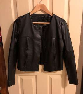 Real leather jacket (xs)