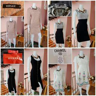 Take All -Yunik- Authentic Chanel Versace bebe Guess Dresses