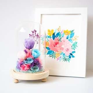 Watercolor Flora Paint