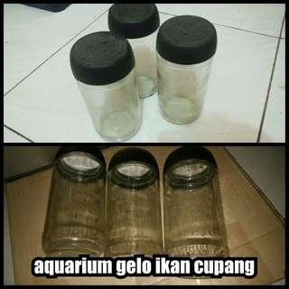 gelas aquarium ikan cupang murah