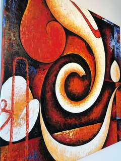 Beautiful oil painting - modern Ganesha for luck