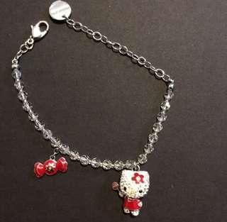 Swarovski crystals hello kitty bracelet