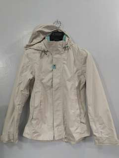 Tribord white hooded waterproof jacket