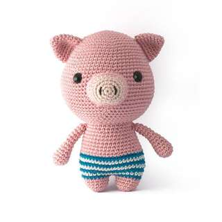 Pig amigurumi toy crochet pattern