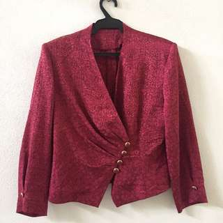 Red Top Blazer