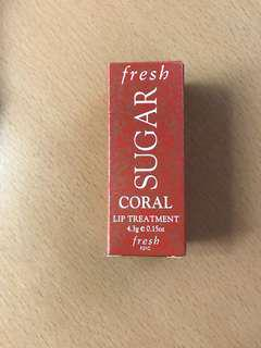 Fresh sugar lip treatment in coral