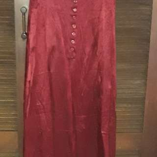 Espirit maroon ankle length gown