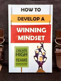 《New Book Condition + How To Manage Mindset For Success》Andrew Sillitoe - HOW TO DEVELOP A WINNING MINDSET : Create High Performance Teams