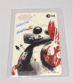 Starwars Ezlink Card New => no value