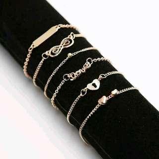 6in1 Fashion Anklet/Bracelet